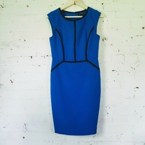 The Limited Blue & Black Dress